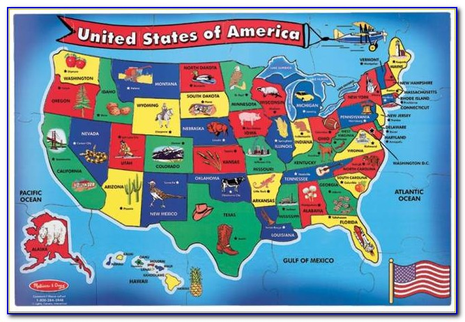 Childrens Wall Map Of The United States
