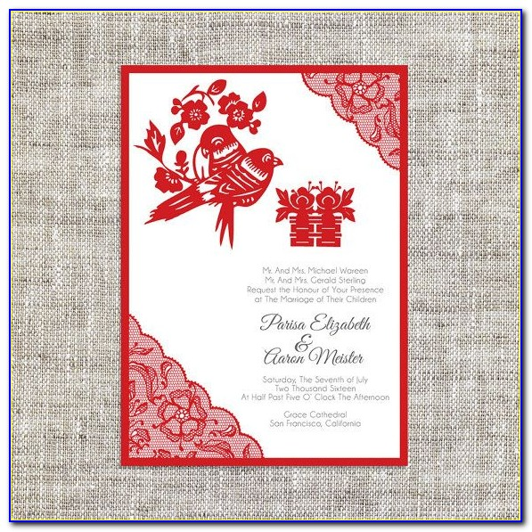 Chinese Wedding Invitation Card Template Download