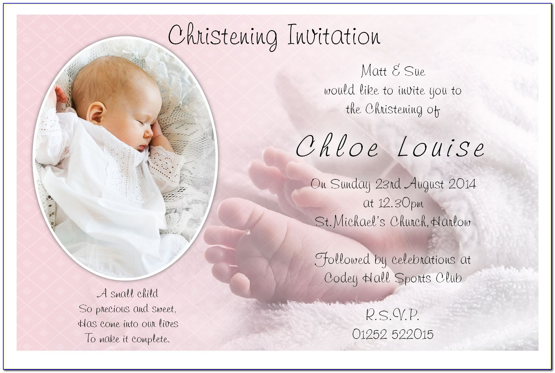Christening Invitation Template Philippines