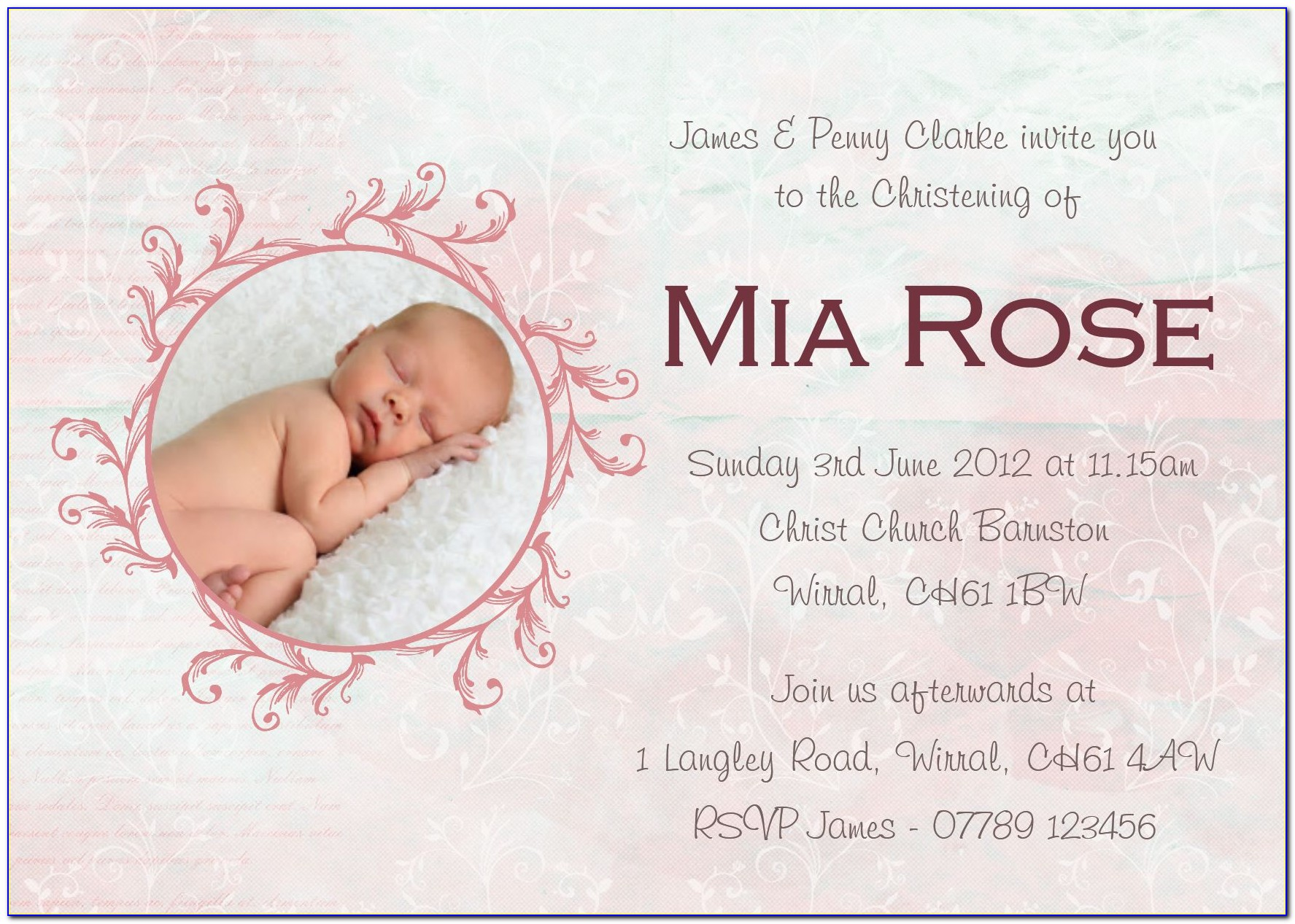 Christening Invitation Template Png