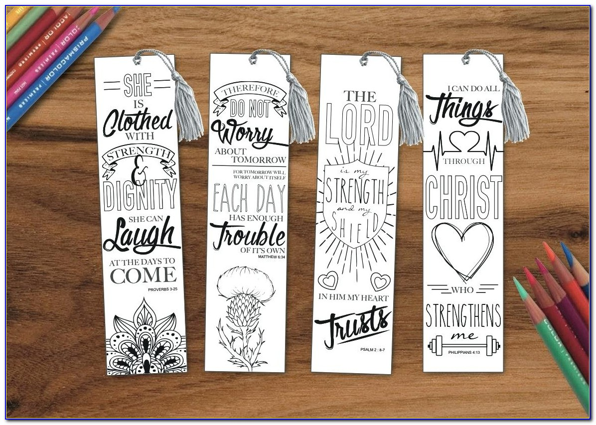 Christian Bookmark Templates For Word