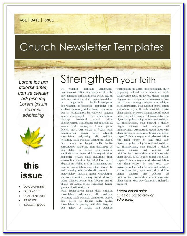Christian Newsletter Templates Free