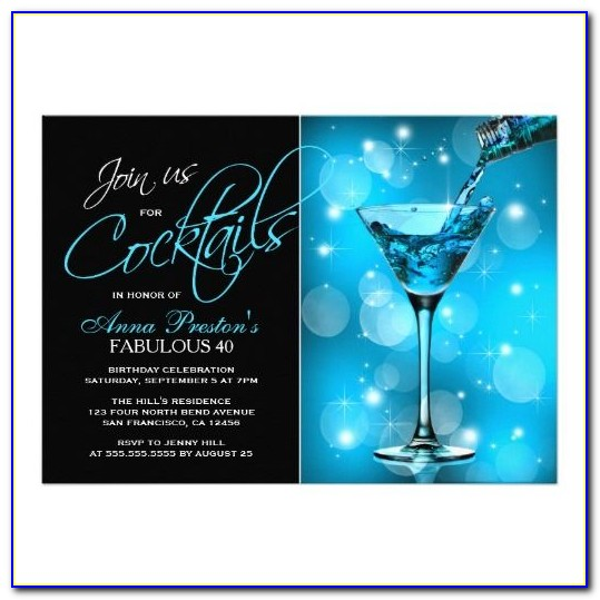 Christmas Cocktail Party Invitation Template