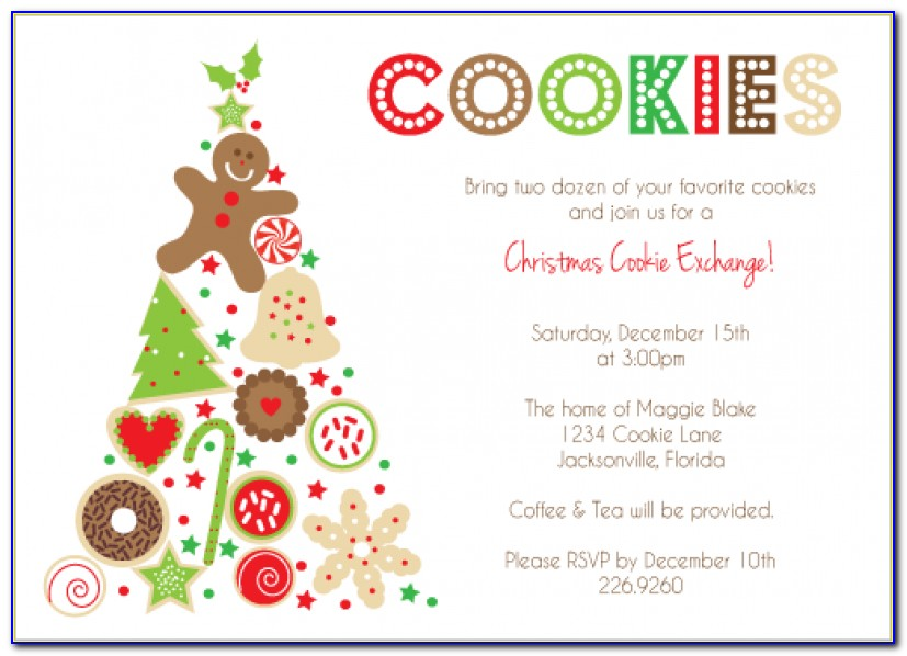 Cookie Exchange Invitation Templates Cookie Swap Christmas Party