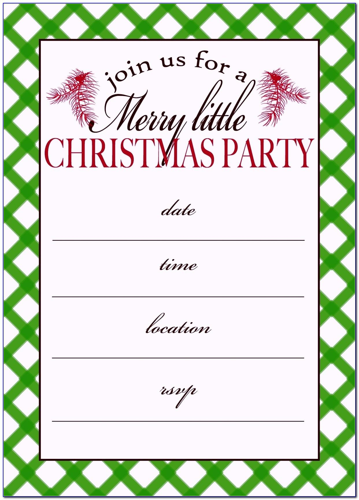 Christmas Dinner Invitation Templates Free Download