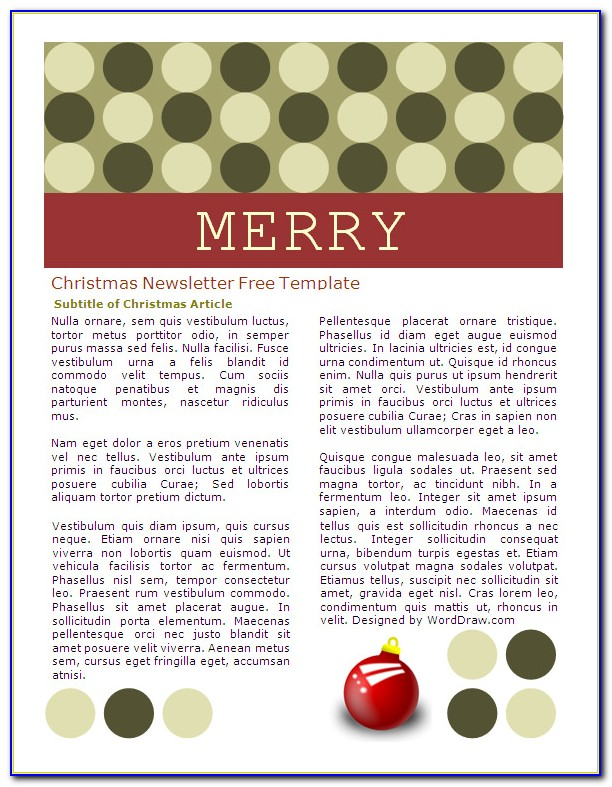 Christmas Email Newsletter Templates Free