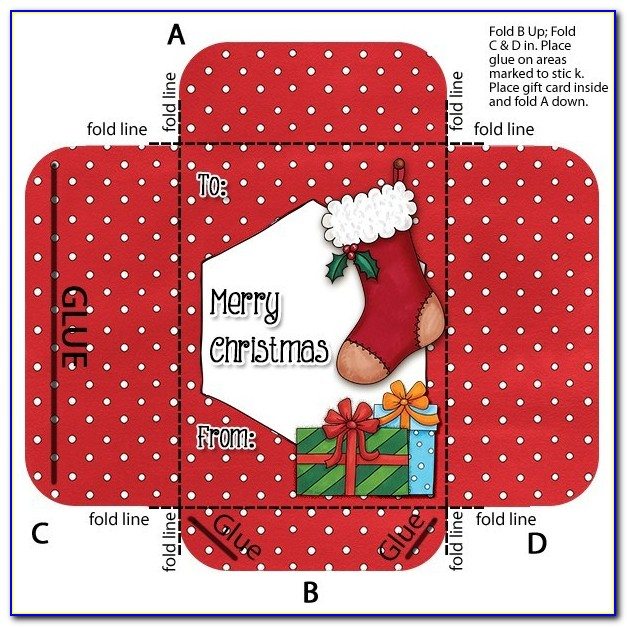 Christmas Gift Card Envelope Template