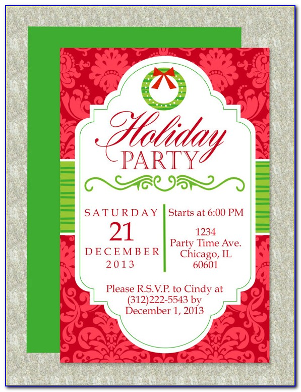 Christmas Invitation Template For Word Free