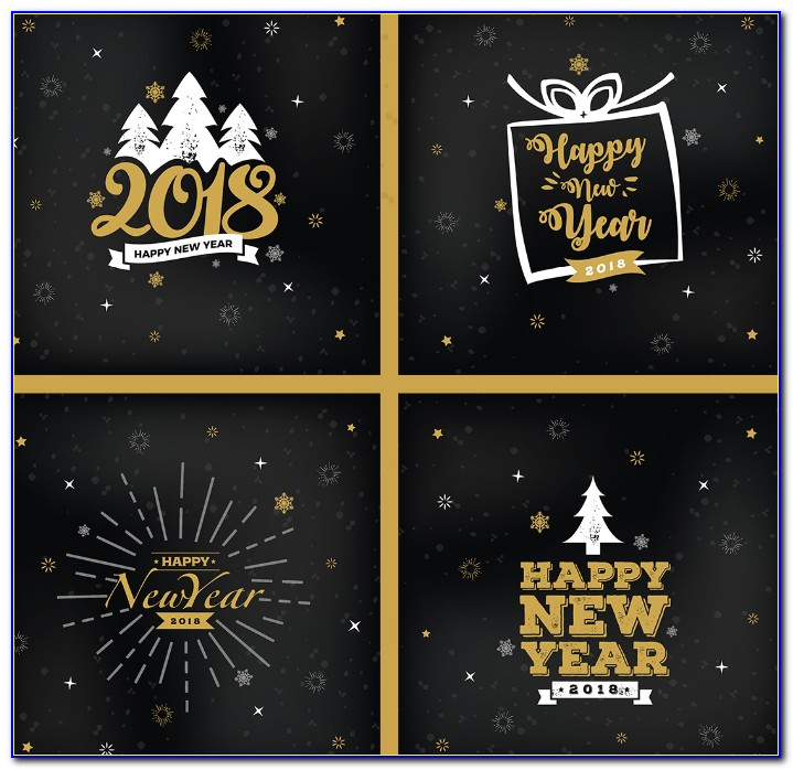 Christmas New Year Greeting Card Design