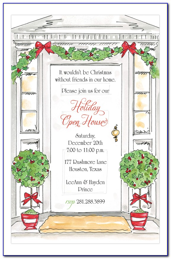 Christmas Open House Invitation Templates