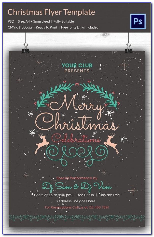Christmas Party Flyer Template Download