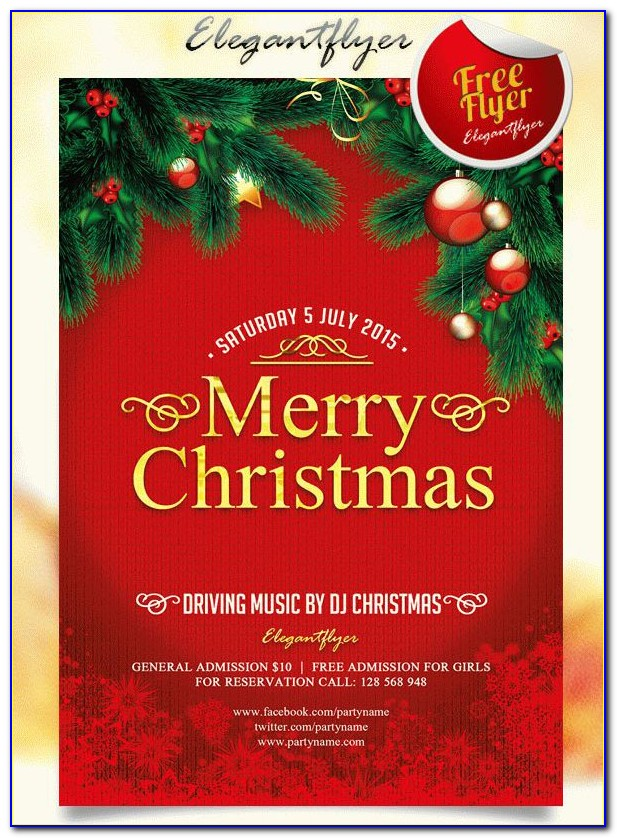 Christmas Party Flyer Template Free Download
