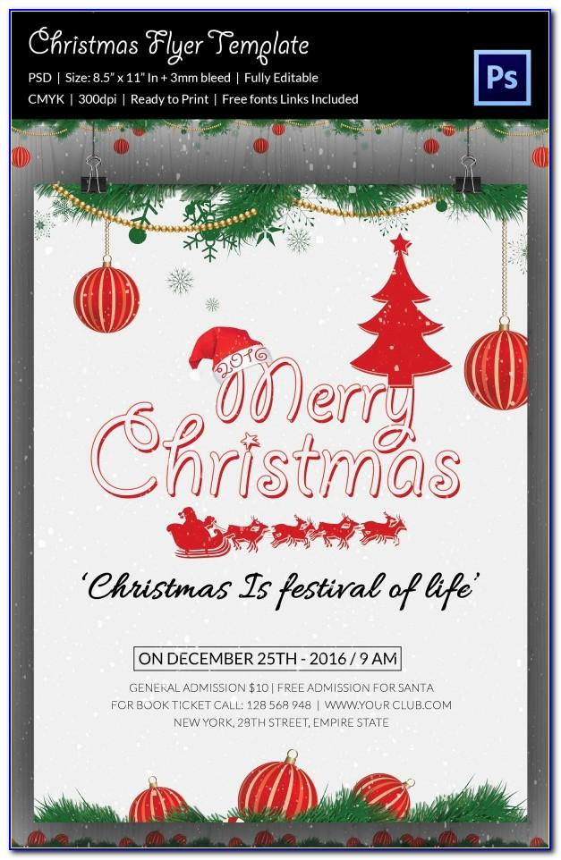 Christmas Party Flyer Templates Microsoft