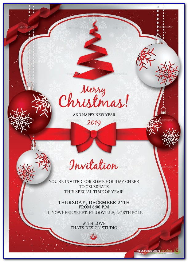 Christmas Party Invitation Template For Word