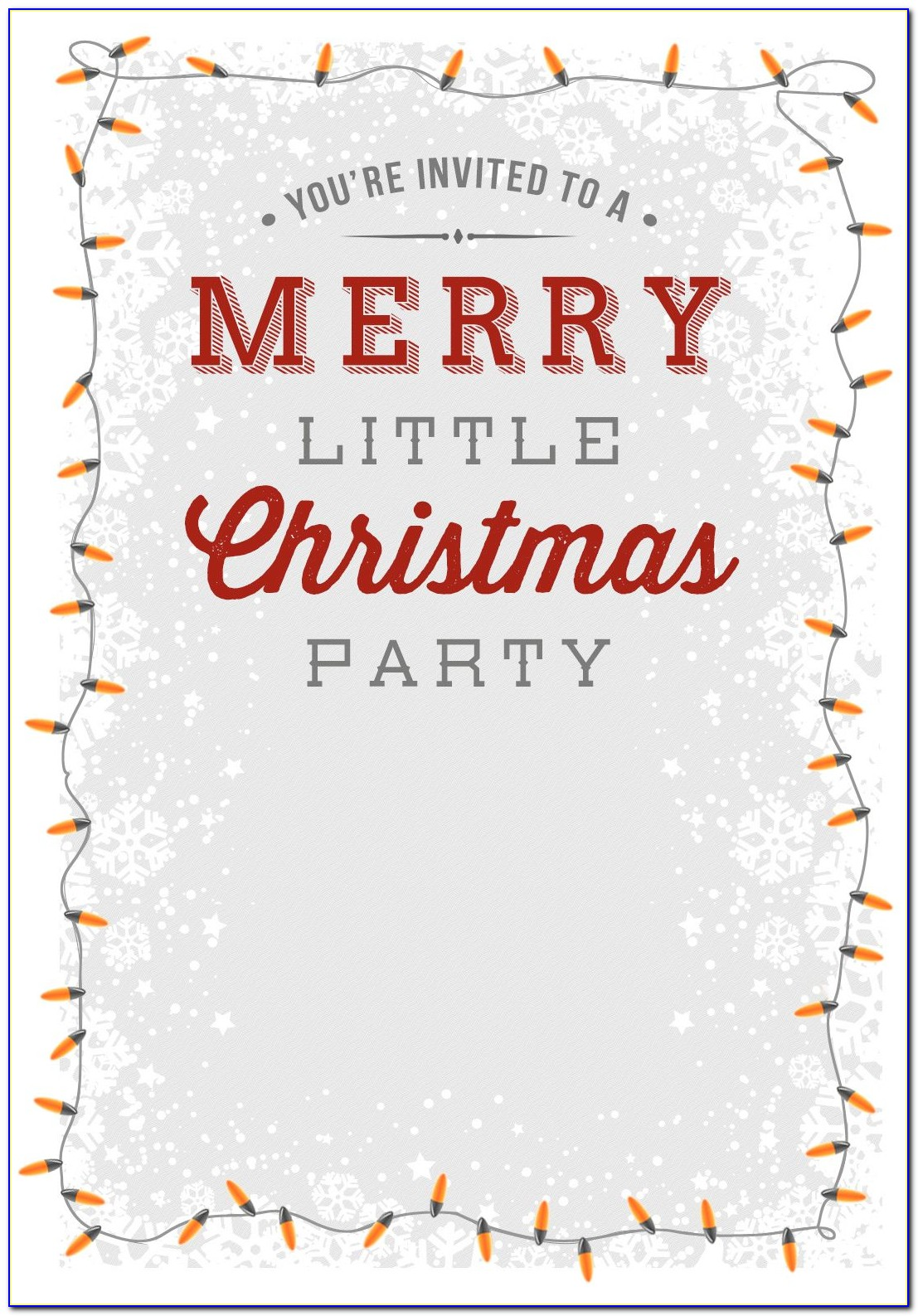 Christmas Party Invitation Template Office