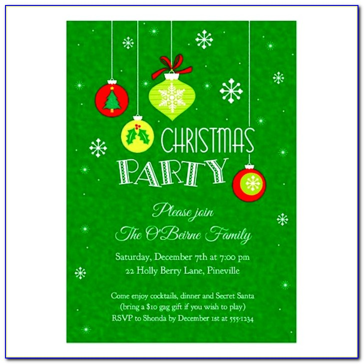 Christmas Party Invite Word Template