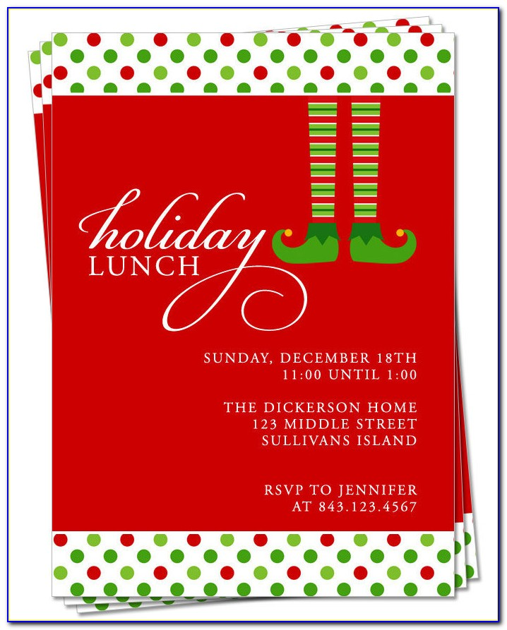 Christmas Party Invitation Templates Powerpoint