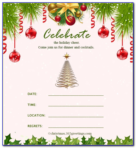 Christmas Party Invitation Templates Word 2007