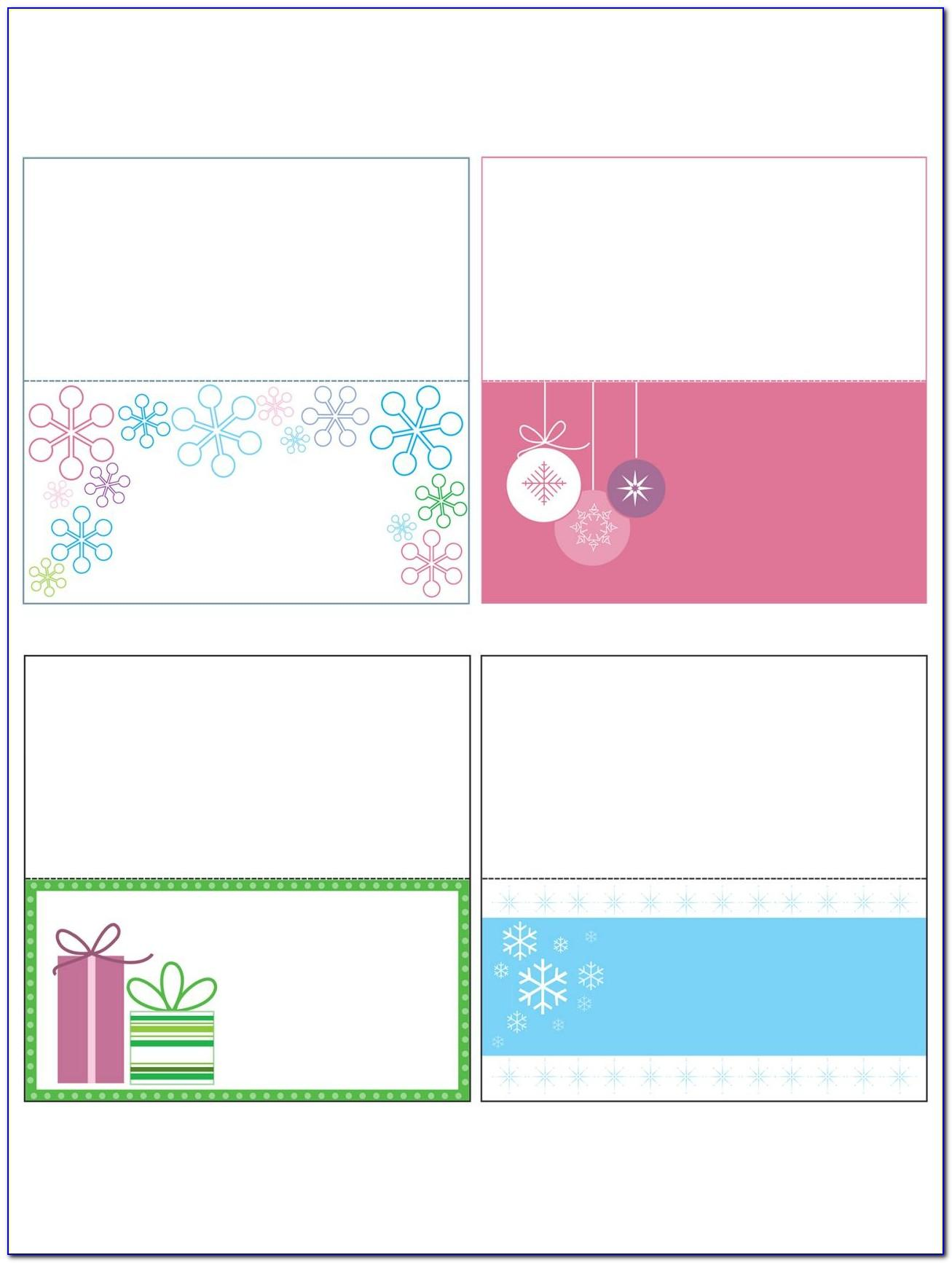 Christmas Place Card Template Free Download Word