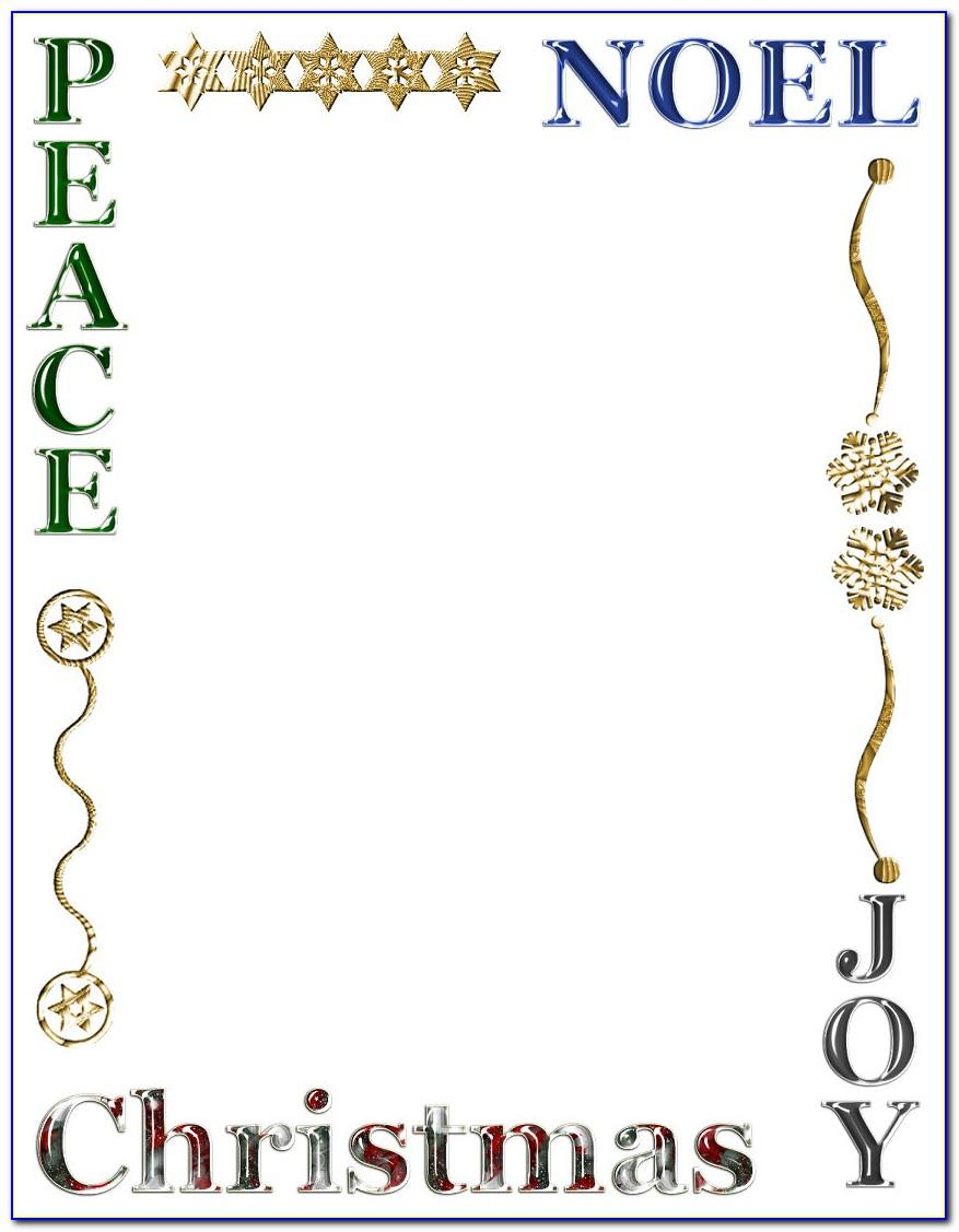 Christmas Religious Stationery Templates