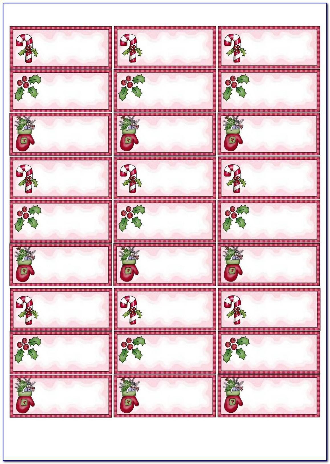 Christmas Return Address Labels Template Avery 8167