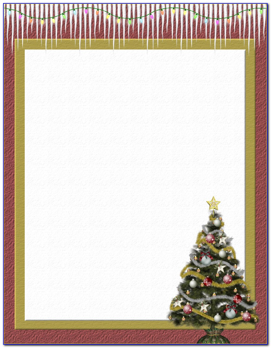 Christmas Stationery Template For Pages