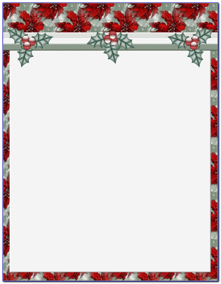 Christmas Stationery Template