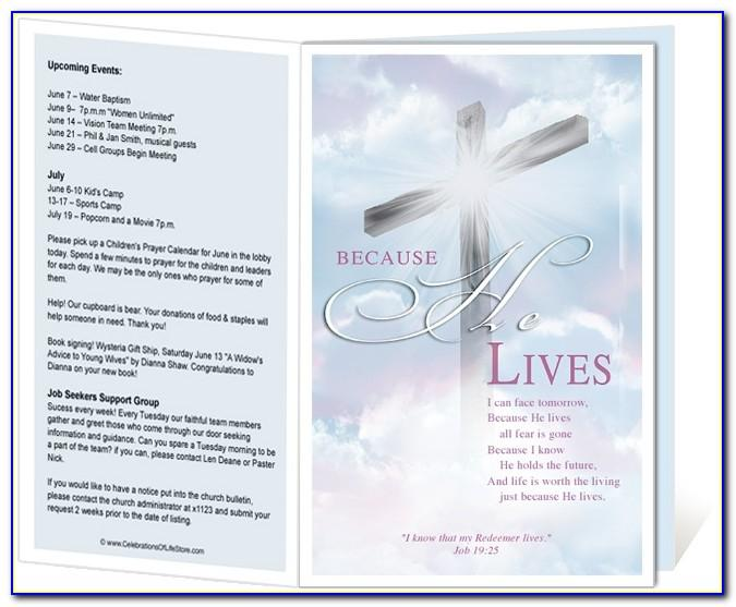 Church Anniversary Program Outline Template