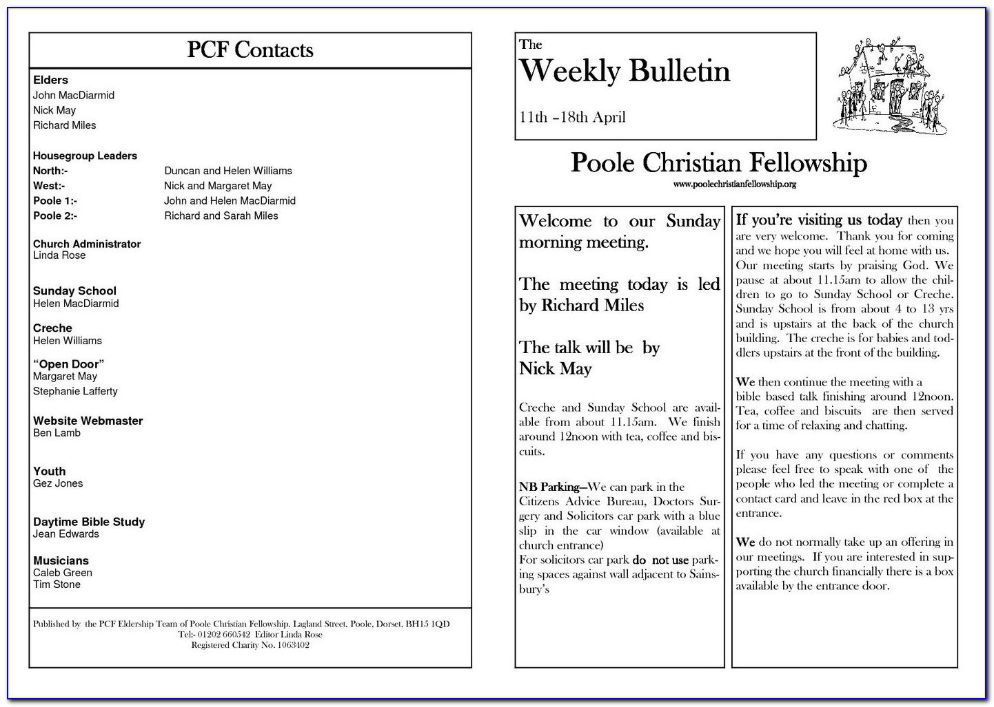Church Bulletin Templates Indesign