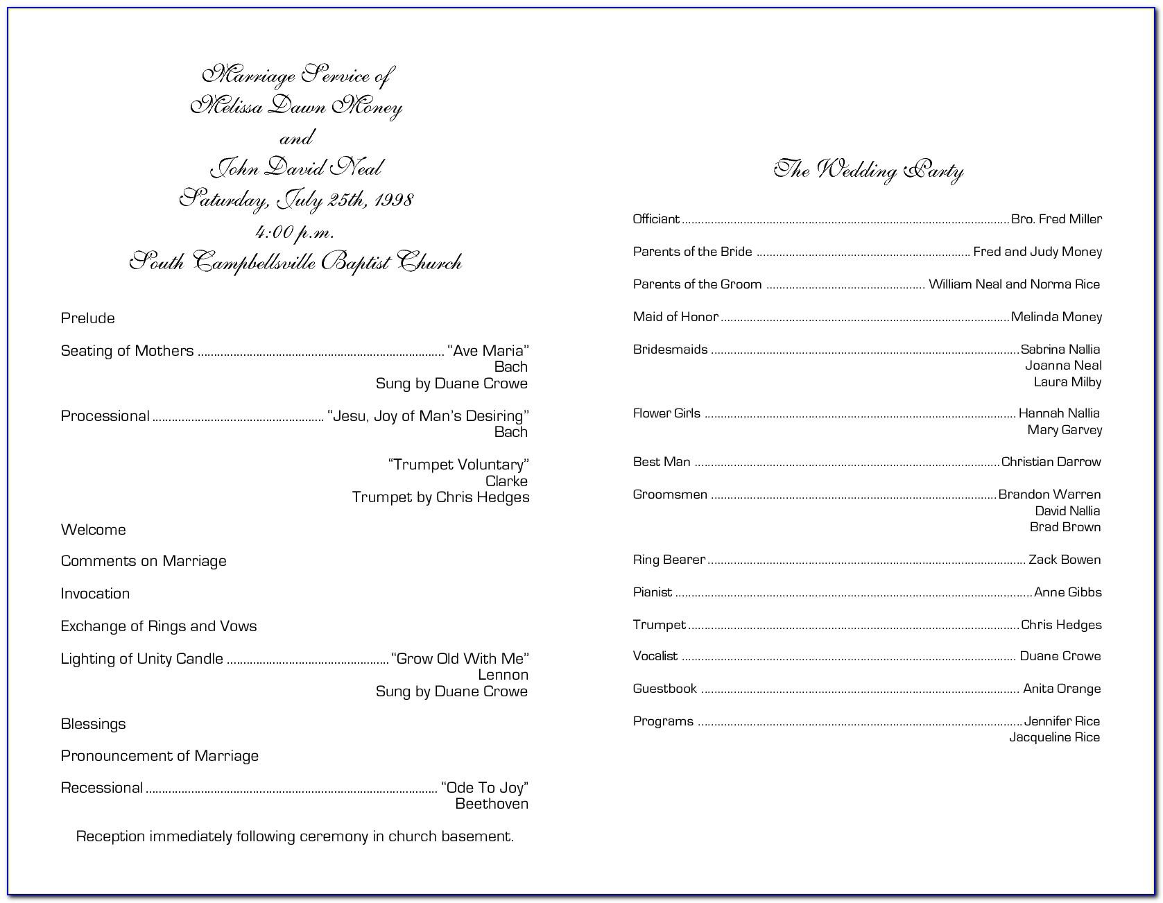 Church Choir Anniversary Program Template