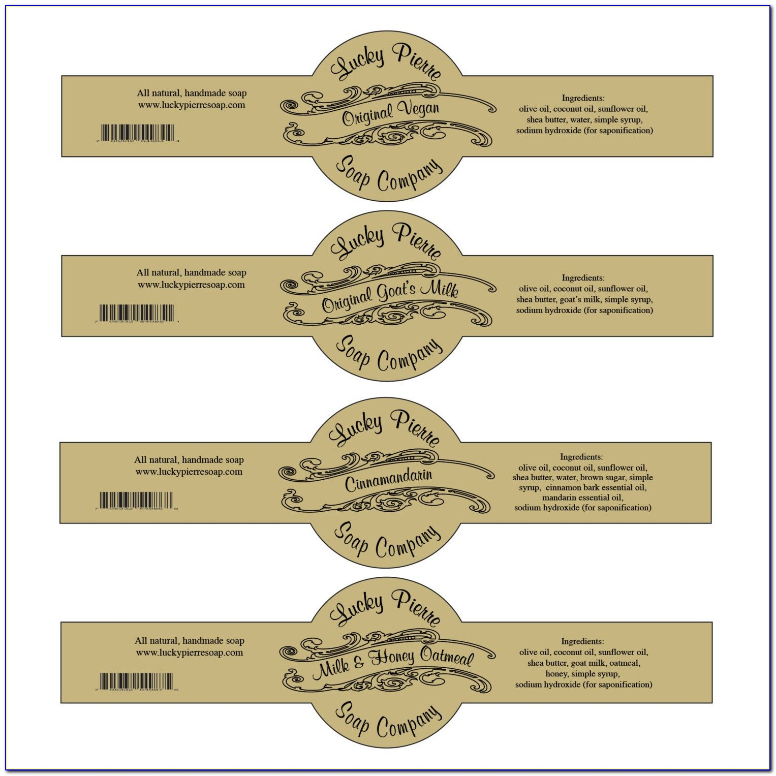 Cigar Band Soap Label Template Free