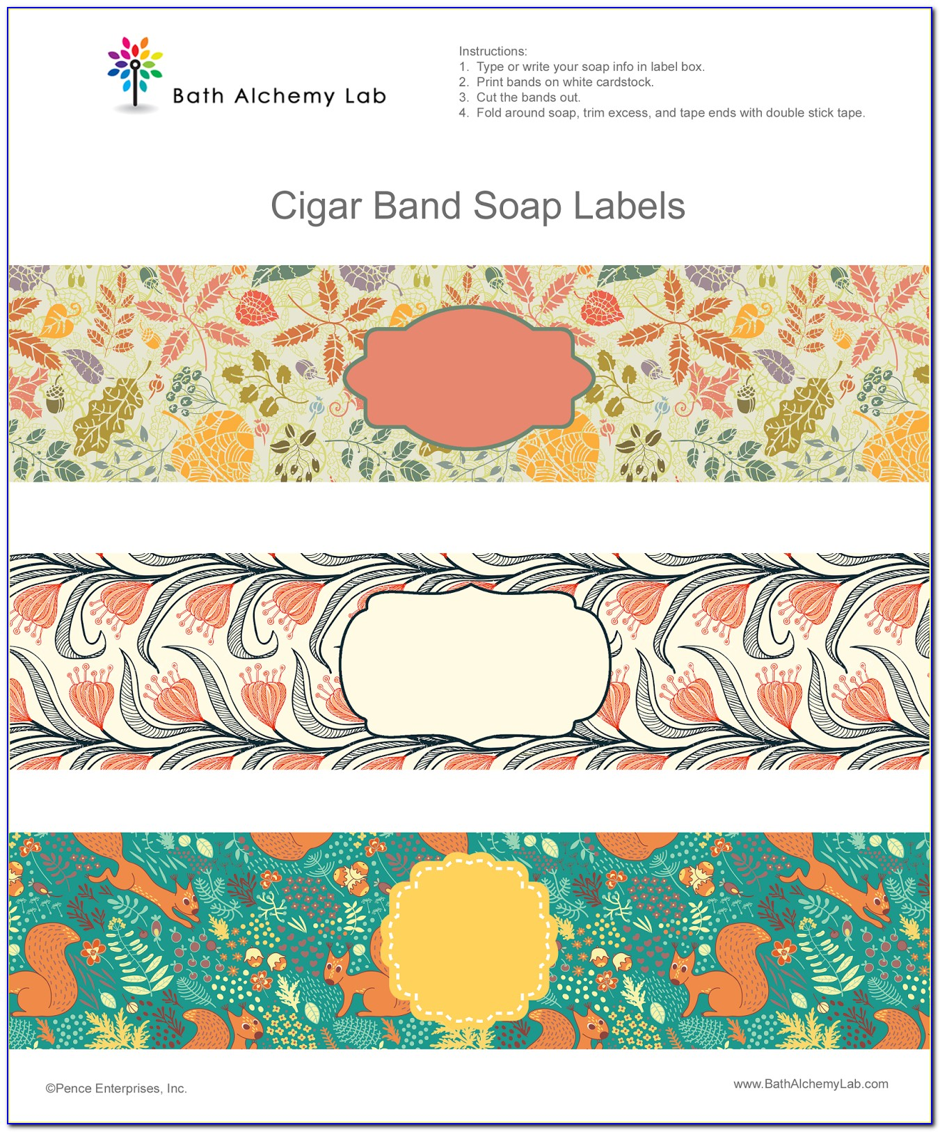 Cigar Band Template For Soap