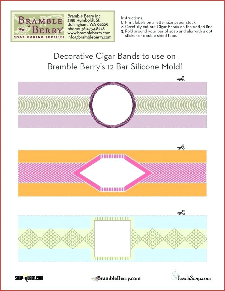 Cigar Label Template For Soap