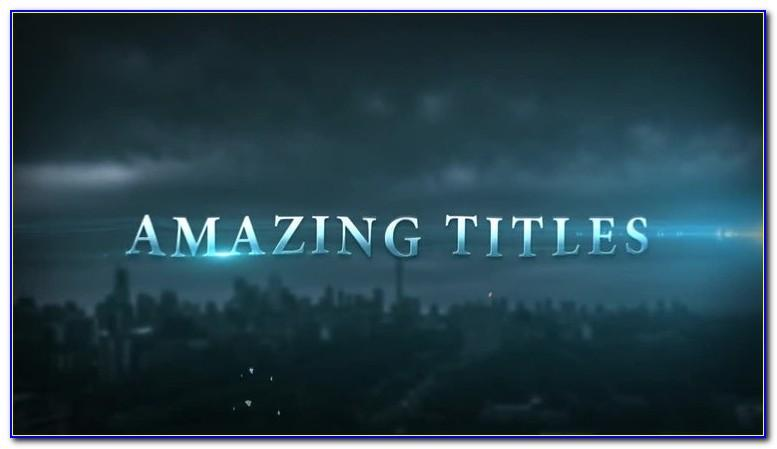 Cinematic Title 1 After Effects Template