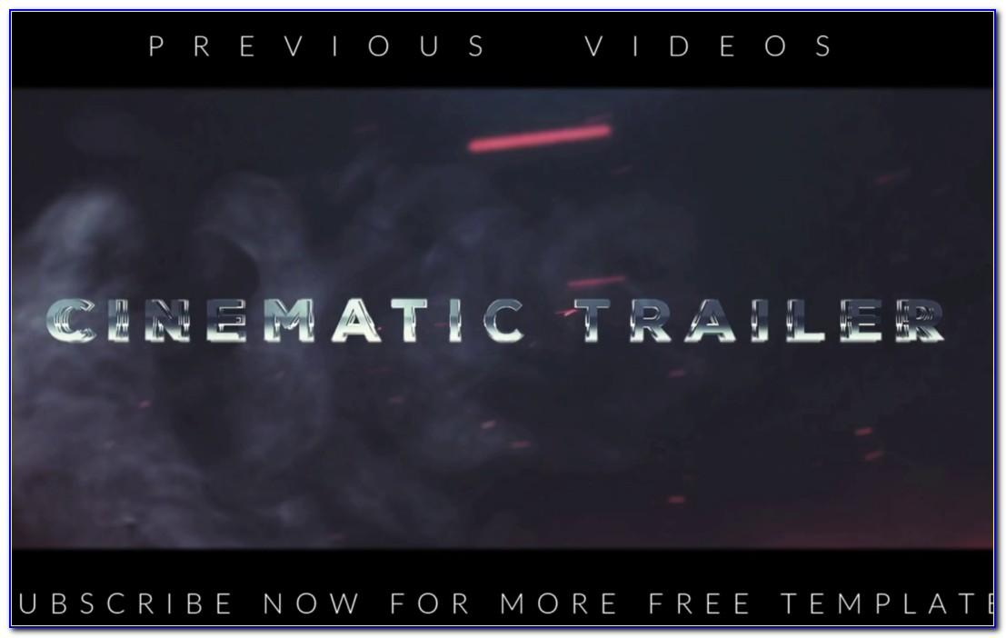 Cinematic Title After Effects Template Free