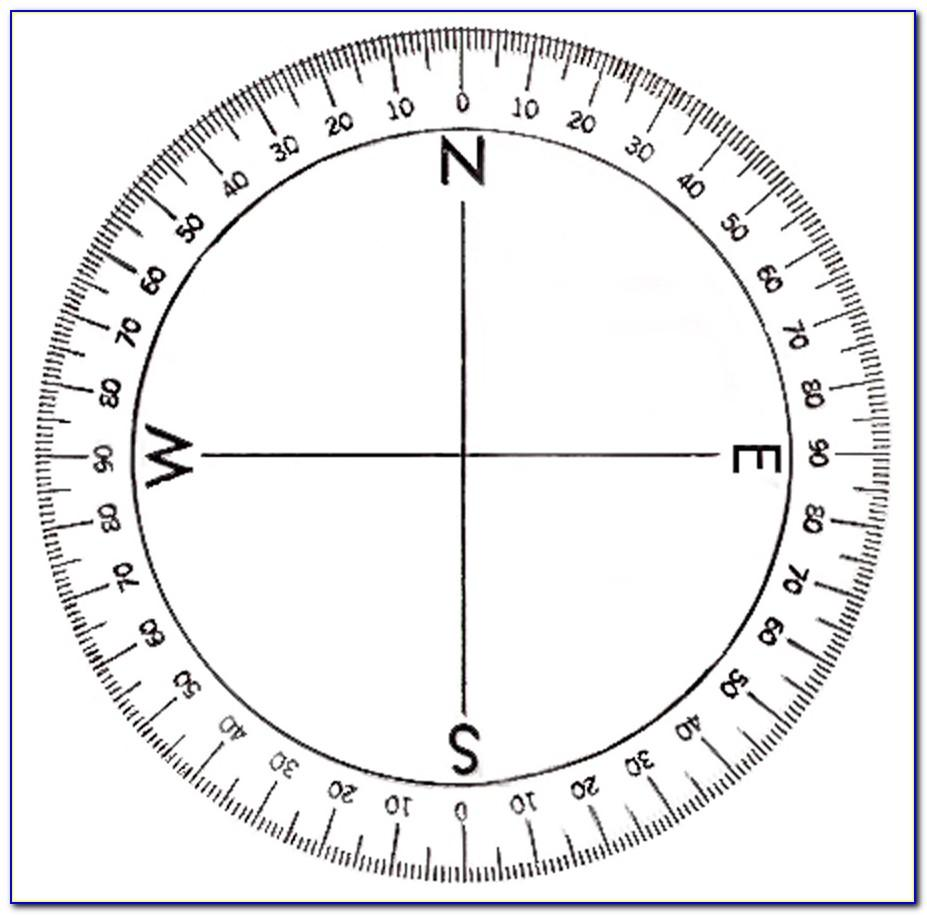 Circle Protractor Template