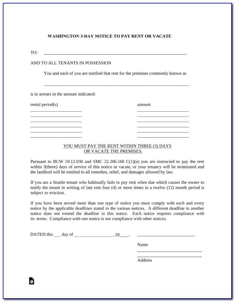 Clark County Washington Eviction Forms