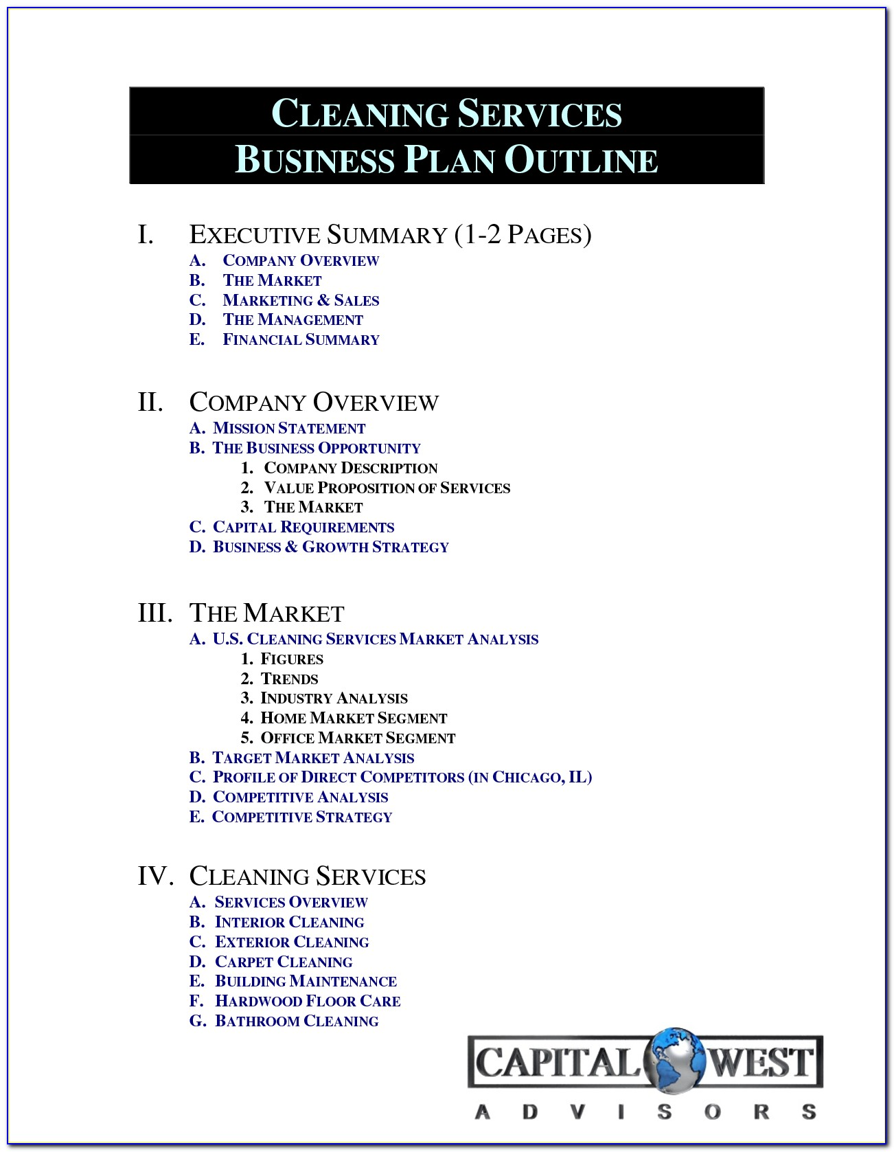 Cleaning Business Proposal Template Free