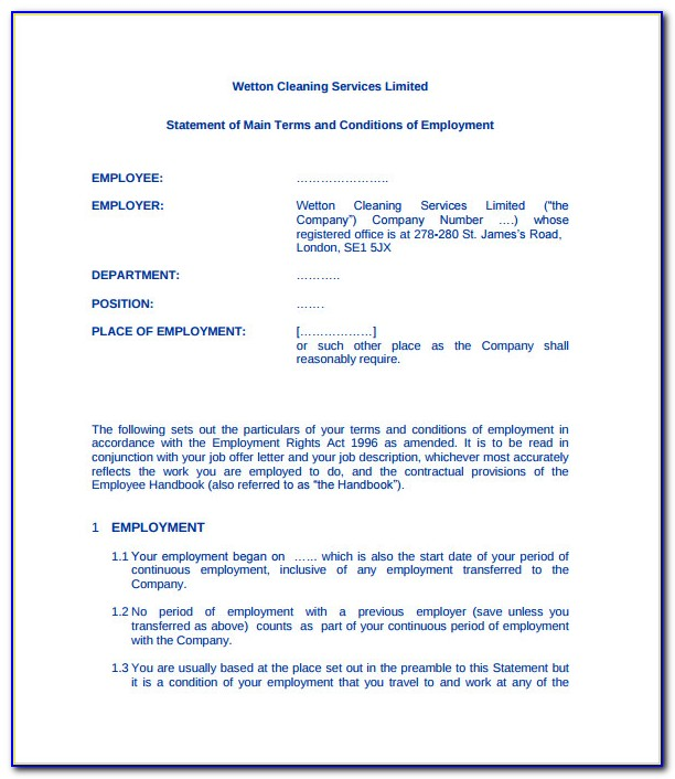 Cleaning Contract Template Word
