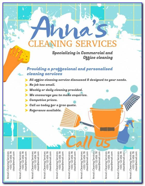 Cleaning Flyers Samples Free