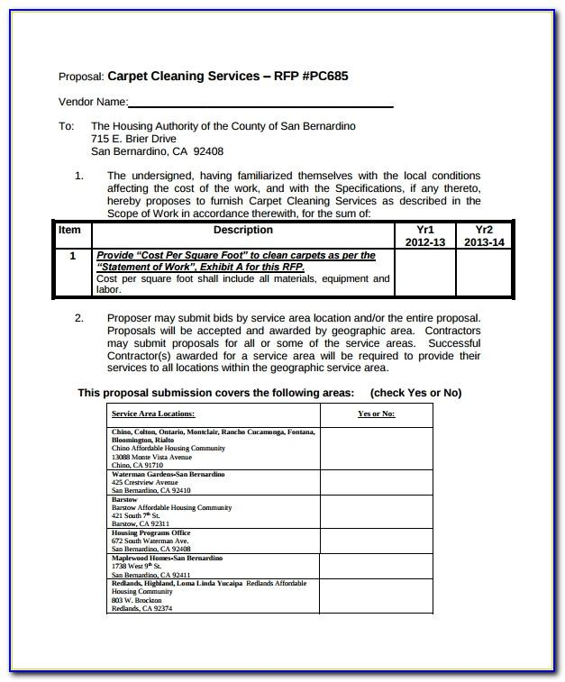 Cleaning Service Proposal Template Pdf