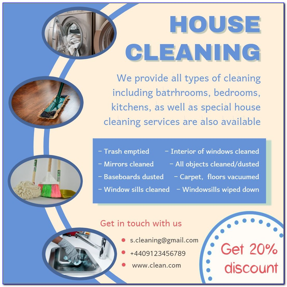 Cleaning Services Advertising Templates