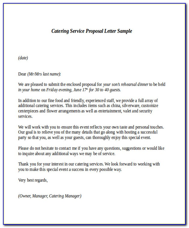 Cleaning Services Proposal Cover Letter