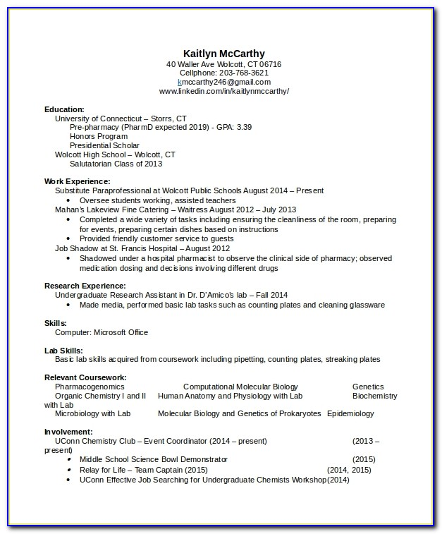 Clinical Pharmacist Resume Pdf