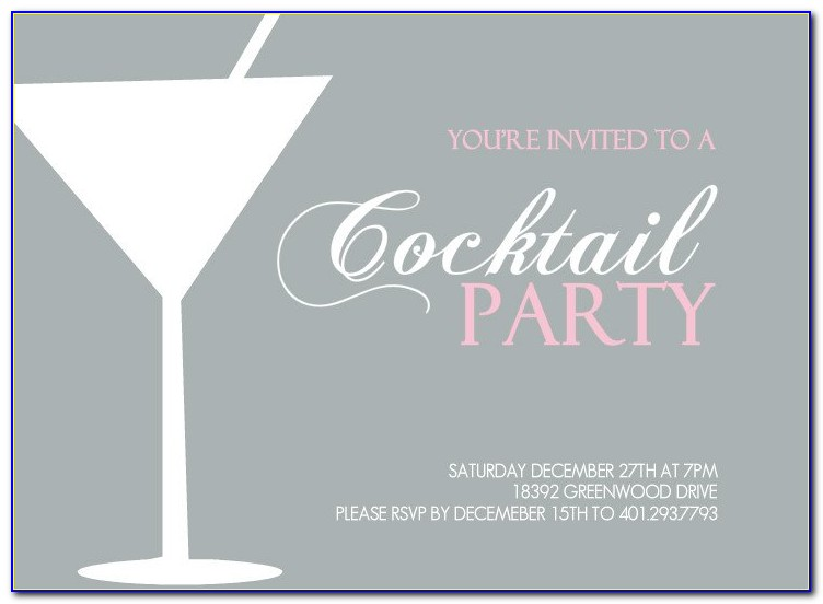 Cocktail Party Invitation Cards