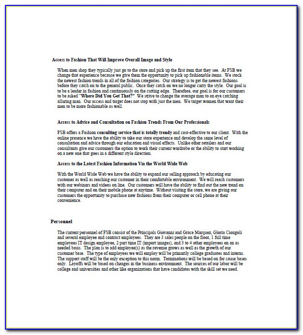 Coffee Shop Business Plan Template Free