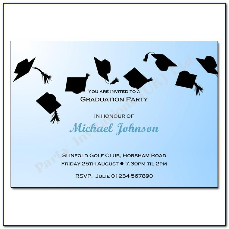 College Graduation Party Invitations Templates Free