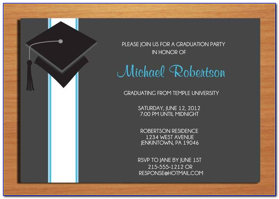 College Graduation Party Invitation Wording 2572