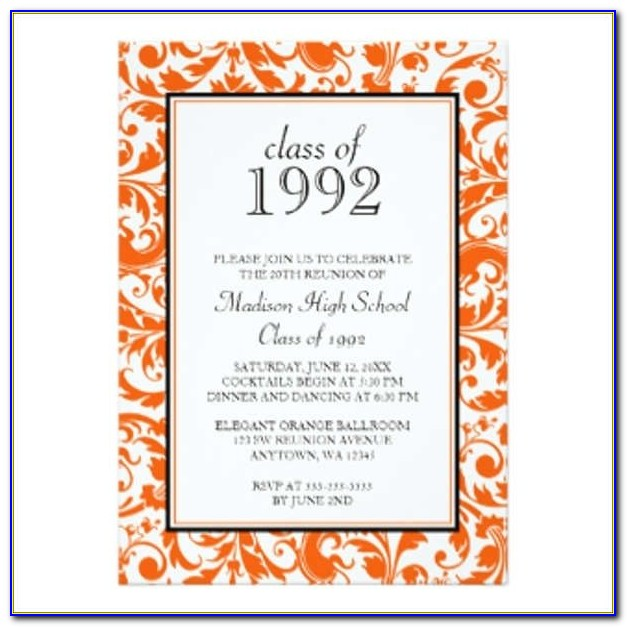 College Reunion Invitation Templates Free
