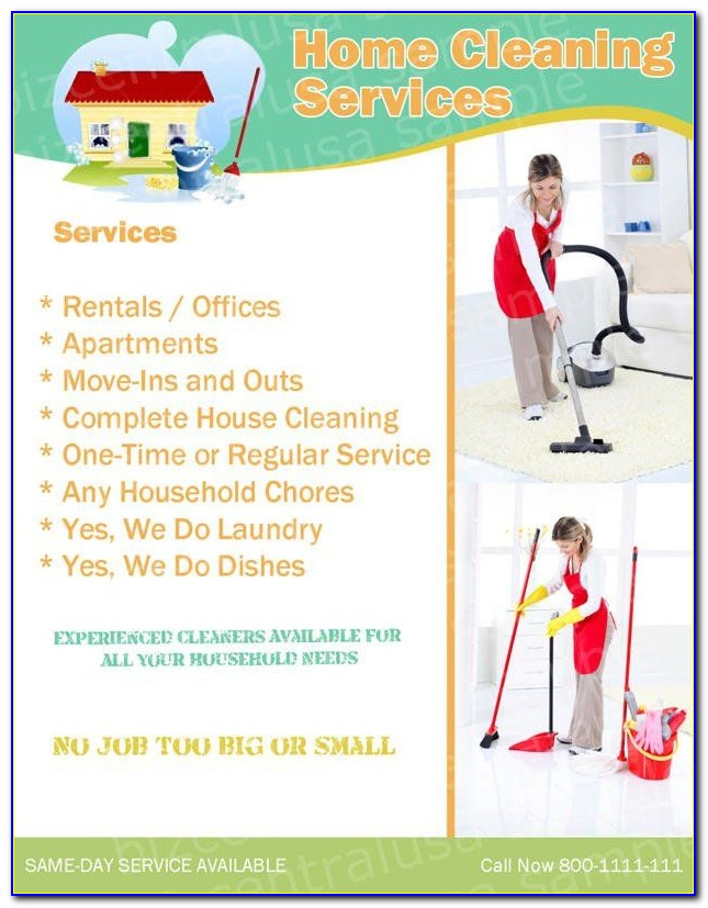 Commercial Cleaning Flyers Templates